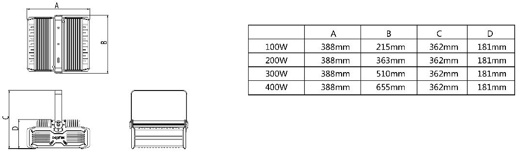 GKL8110BLED減震燈具產品尺寸