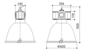 GKN6025投光燈具產品尺寸