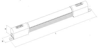 GKL5208LED機柜燈具尺寸表