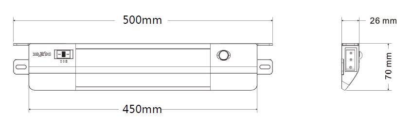 GKL5315LED機柜燈具尺寸