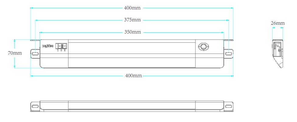 GKL5310LED機柜燈具尺寸