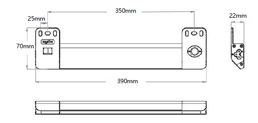 GKL5109LED機柜燈具尺寸
